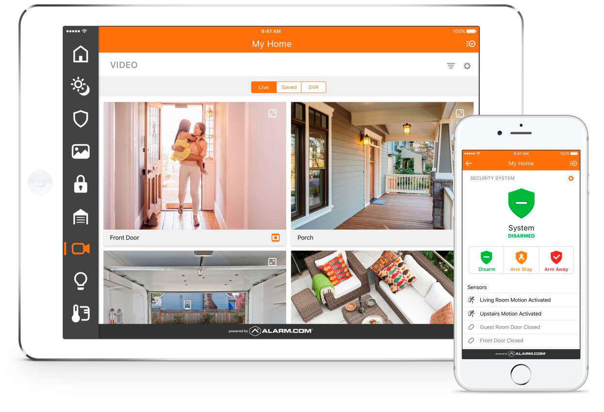 Burglar system showcasing home automation